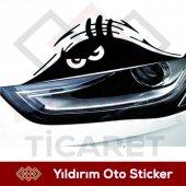 Sinirli Bakan Göz Oto Sticker Sert Bakan Göz...