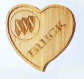 Buick Logolu Kalp Bambu Büyük Tabak
