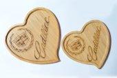 Harley Davidson Logolu Kalp Bambu Küçük Tabak-4
