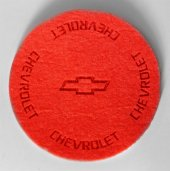 Chevrolet Logolu Kırmızı Keçe Bardak Altlığı