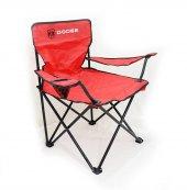 Dodge Logolu Kırmızı Kamp Sandalyesi