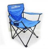 124 Sevdası Logolu Mavi Kamp Sandalyesi