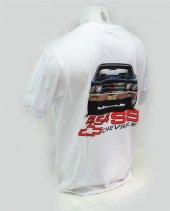L T-Shirt V Yaka 1970 Chevrolet Chevelle SS 454Cİ Dijital Baskılı Beyaz -3