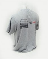 XXL T-Shirt Sıfır Yaka 124 Sevdası Dijital Baskılı Gri -3
