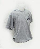 XXL T-Shirt Sıfır Yaka 124 Sevdası Dijital Baskılı Gri -4