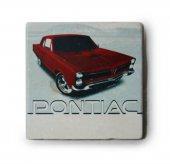 1965 Pontiac GTO Baskılı Doğal Limra Taşı Bardak Altlığı