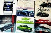 1965 Pontiac GTO Baskılı Doğal Limra Taşı Bardak Altlığı-4