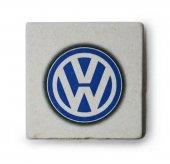 Volkswagen Logolu Doğal Limra Taşı Bardak Altlığı