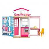 Barbie nin Portatif Evi Kız Çocuk Evcilik Oyuncak Ev Oyun Evi