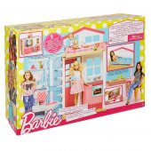 Barbie nin Portatif Evi Kız Çocuk Evcilik Oyuncak Ev Oyun Evi -2