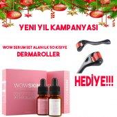 Wowskın Vitamin Serum Set + Dermaroller Hediyeli