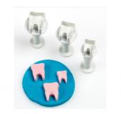 Mini Diş Basmalı Enjektörlü Kurabiye Kalıb 3 Adet