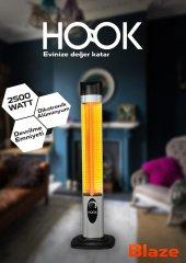 Hook 402 Mikatronik Ufo Tarzı 2500 Watt Kule Tipi Dikey Elektrikli Isıtıcı, Devrilme Emniyetli Soba