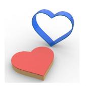 Kalp Kurabiye Kalıbı