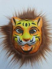 Yabidur Peluş Aslan Maskesi Hayvan Maskeleri Karış...