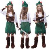 Yabidur Peter Pan Kız Çocuk Kostümü M Beden 624...