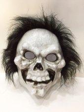 Yabidur Saçlı Peluşlu İskelet Maskesi