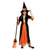 Yabidur Cadı Kostümü Çocuk Halloween Kostümü...