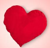 Kalpli Yastık Hediyelik Yastık Baskı İçin Kalpli Yastık