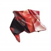 Hipnoz Desenli Eşarp - Kırmızı-4