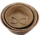 Hasır El Yapımı SAKSI SEPETİ Bitki Çantası Çamaşırlık-7