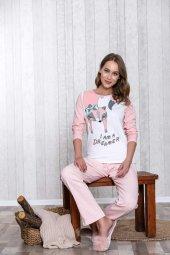 My Little Pretty Cat Baskılı Kadın 2li Pijama Takım LB1050-2