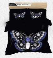 Alaca 246 Kelebek Broş 1 3d Çift Kişilik Nevresim Takımı