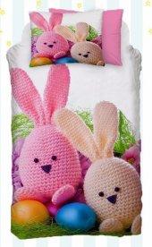 Alaca 2002 Renkli Tavşan 3d Bebek Nevresim Takımı