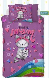Alaca B06 I Love Mom 3d Bebek Nevresim Takımı