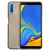 Samsung A9 2018 (A920) Premium Simple Silikon Arka Kapak Gold