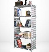 çelik Profilli Bez Kitaplık, Metal Destekli...