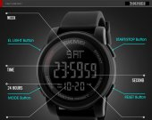 Skemi Su Geçirmez Asker Kol Saati Dijital Garantili Saat-5