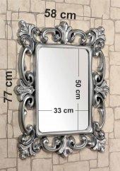 Gümüş Yaldız 58x77cm Dev Büyük Banyo Salon Koridor Yatak Odası Etajer Kolon Duvar Antre Boy Aynası