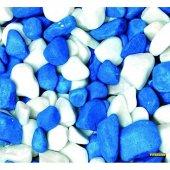 Mavi Beyaz Fanus Çakılı 350g