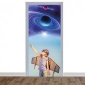 Çocuk ve Gökyüzü Temalı Kapı Giydirme