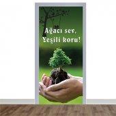 Ağaç Temalı Değerler Kapı Giydirme