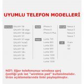 Samsung Galaxy S6 S6 edge Baseus Hızlı Kablosuz Şarj Cihazı-2