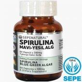 Spirulina 60 Kapsül Sepe Natural Siprulina Yosun Hapı