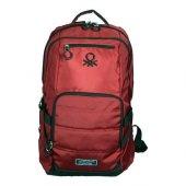 Benetton Okul Sırt Çantası 95031 Kırmızı orjinal Yeni Sezon