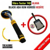 Vibra Tector 740 Scuba Dedektörü Black Ada Kum Küreği Hediye