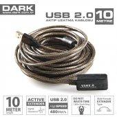 Dark Usb 2.0 10m Aktıf Uzatma Kablosu (Dk Cb...