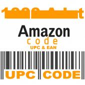 1000 Upc Ean Asın Barkod Kodları Numarası Upc Kodu Satın Al Amazon Ürün Listeleme Yükleme