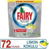 Fairy Platinium Bulaşık Tableti 72 Yıkama