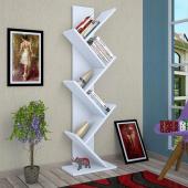 Moonlife Tree Dekoratif Kitaplık Beyaz