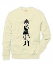 Tshirthane Dragon ball z Son Goku Vegeta Sweatshirt Uzunkollu