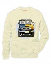 Tshirthane Toyota hummer Evolution jeep Sweatshirt Uzunkollu