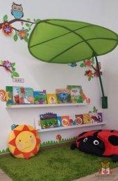Ceebebek Montessori Ahşap Duvar Raf Bebek Çocuk...