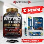 Muscletech Nitrotech 100% Whey Gold Protein 2270 gr + 2 Hediye