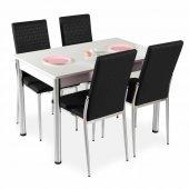 Masa Sandalye Takımı Mutfak Masa 4 sandalye + Masa-2