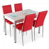 Masa Sandalye Takımı Mutfak Masa 4 sandalye + Masa-6